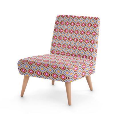 Occasional Chair Leaves Geometric Pattern