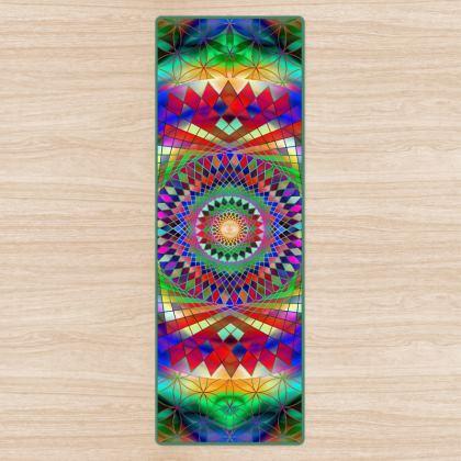 Yoga Mat Rainbow Mandala