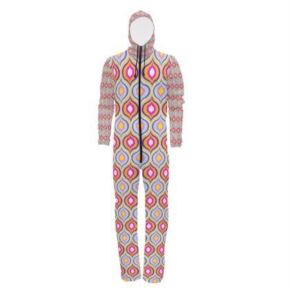 Hazmat Suit Leaves Geometric Pattern