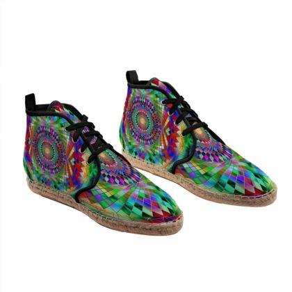 Hi Top Espadrilles Rainbow Mandala