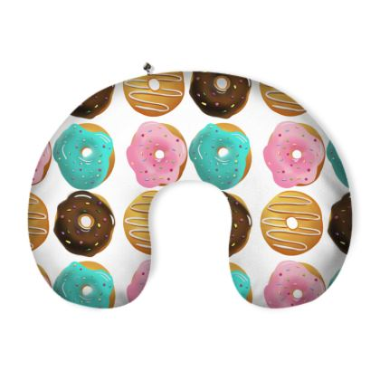 Scrummy donuts neck pillow