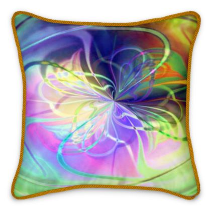 Silk Cushions Rainbow Flower