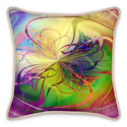 Silk Cushions Colorful Flower
