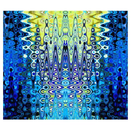 Kimono Blue Lame Splashes