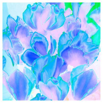 Ladies T Shirt Blue Ciclamen