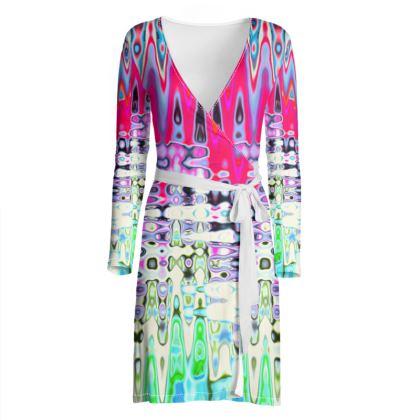 Wrap Dress Love Splashes