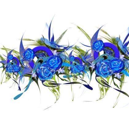 Luggage Strap - Bagageband - Blue flower white