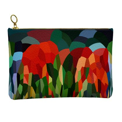 Leather Clutch Bag by Ink Circus Designs