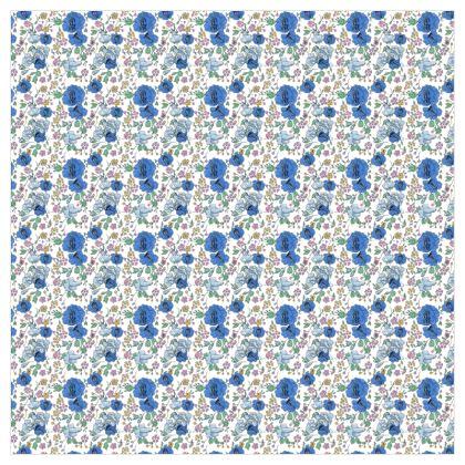store motif bleu fond blanc