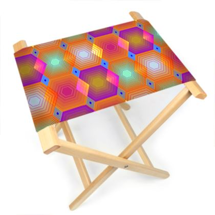 Geometrical Shapes Collection Folding Stool Chair