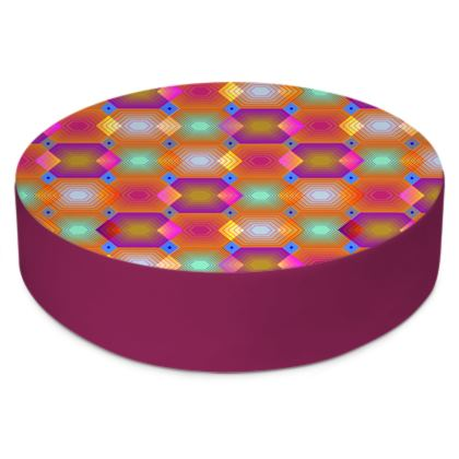 Geometrical Shapes Collection Round Floor Cushions