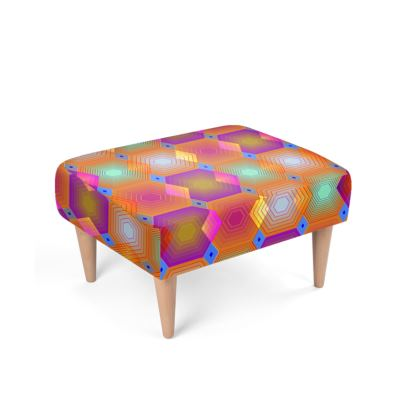 Geometrical Shapes Collection Footstool