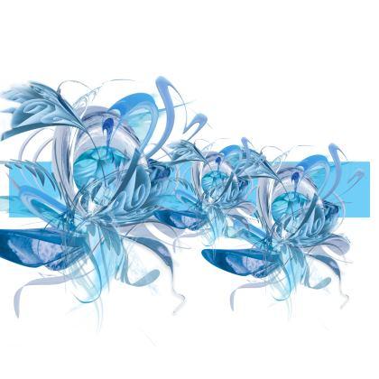 Luggage Strap - Bagageband - Blue Ice blue