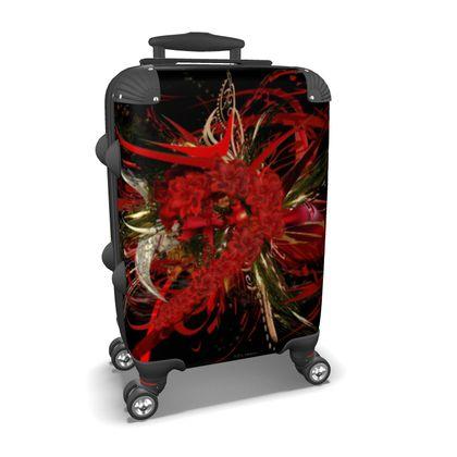 Suitcase (hand luggage) - Resväska  (handbagage) - Christmas Mismatch black