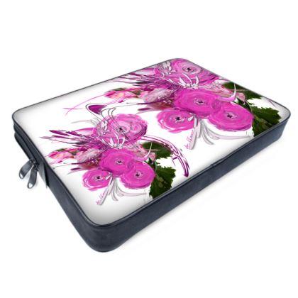 Laptop Bags - Datorväska - Pink summer fantasy white