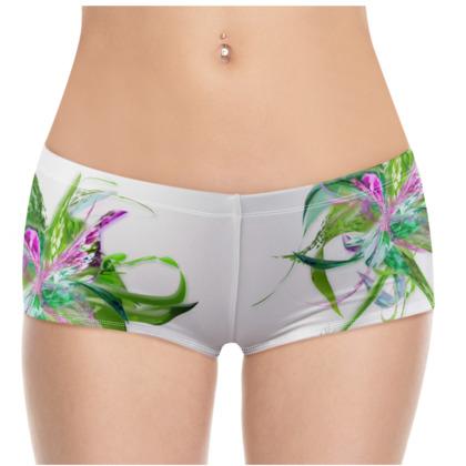 Hot Pants - Summer flower white