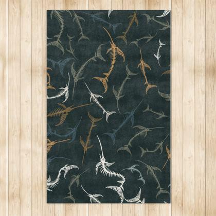 Fish Bone Collection - Dark Slate - Luxury Rug (Large)