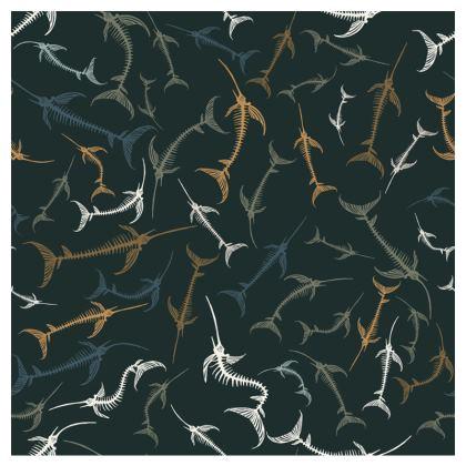 Fish Bone Collection - Dark Slate - Face Masks