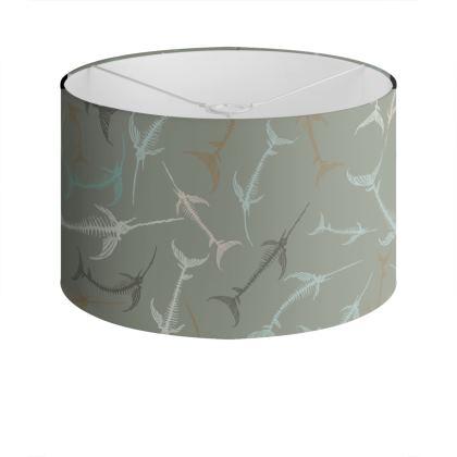 Fish Bone Collection - Sand Stone - Luxury Drum Lamp Shade