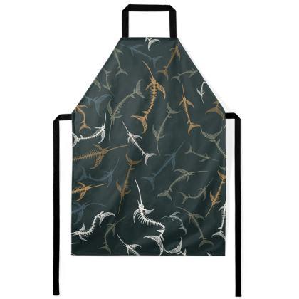 Fish Bone Collection - Dark Slate - Luxury Apron
