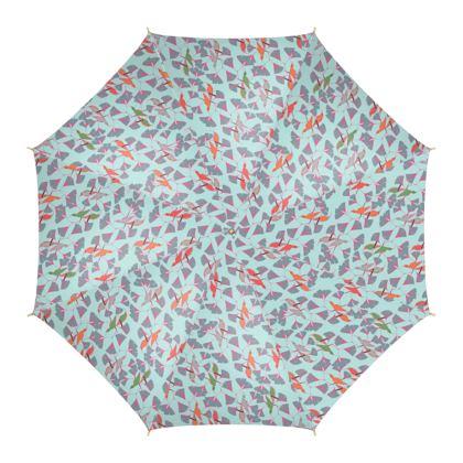 Humming Bird Collection - Aqua - Luxury Umbrella