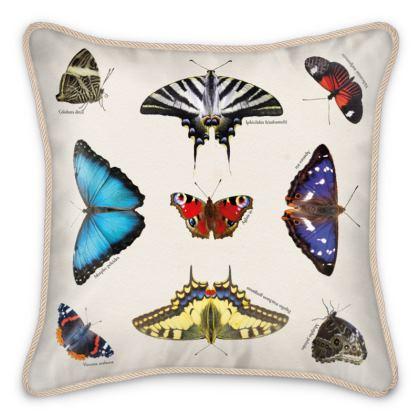 Silk Cushion - Mirrored Butterflies