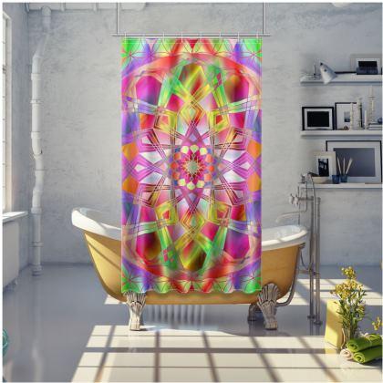 Shower Curtain Pink Mandala