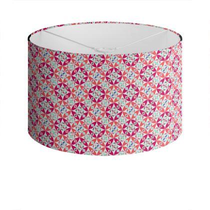 Drum Lamp Shade Arabesque Pattern
