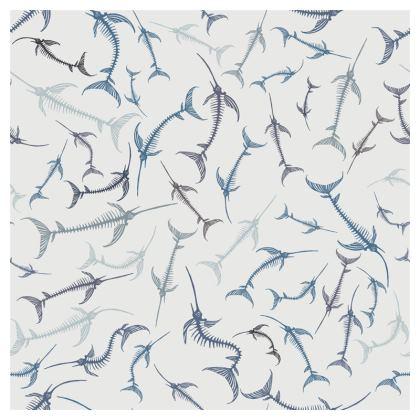 Fish Bone Collection - Denim - Luxury Cushion