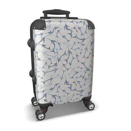 Fish Bone Collection - Denim - Luxury Suitcase