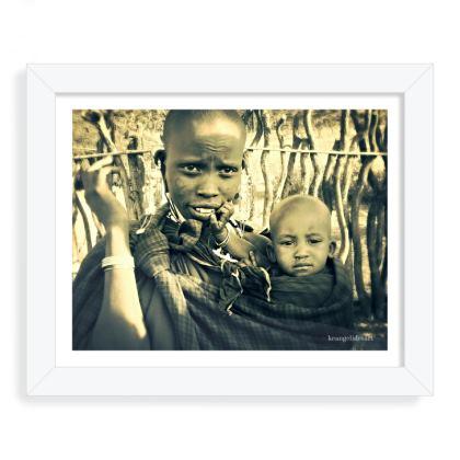 Masai Woman and Child Photo