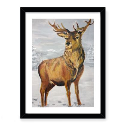 Lone Stag - Framed Print