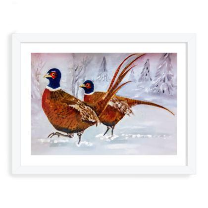 Pair of Pheasants - Framed Print