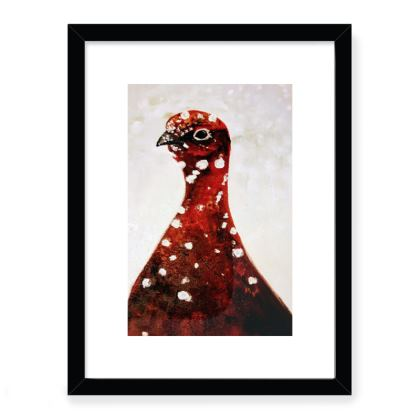 Framed Art Print - Grouse in the Snow