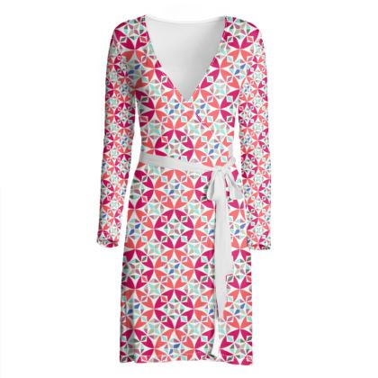 Wrap Dress Arabesque Pattern