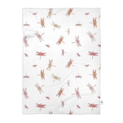 Soft pink dragonflies blanket