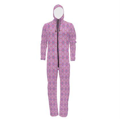 Hazmat Suit Floral Pink Pattern