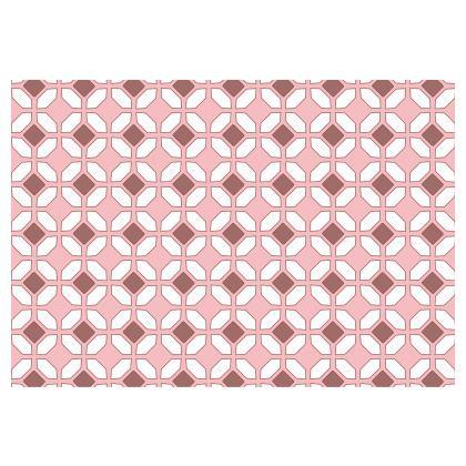 Occasional Chair Pink Rhomboids