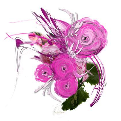 Serving Platter - Uppläggningsfat - Pink summer fantasy white