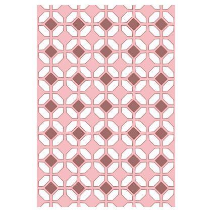 Socks Pink Rhomboids