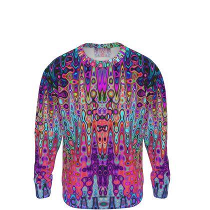 Sweatshirt Purple Blue Splashes