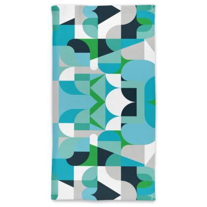 Neck tube scarf - Kaleidoscope green