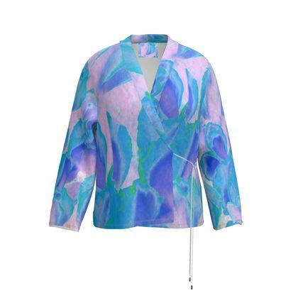 Wrap Blazer Blue Ciclamen