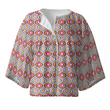 Kimono Jacket Leaves Pattern