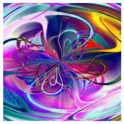 Kimono Jacket Purple Flowers