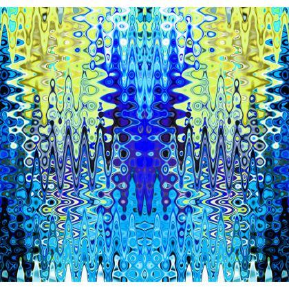 Kimono Jacket Blue Lame Splashes