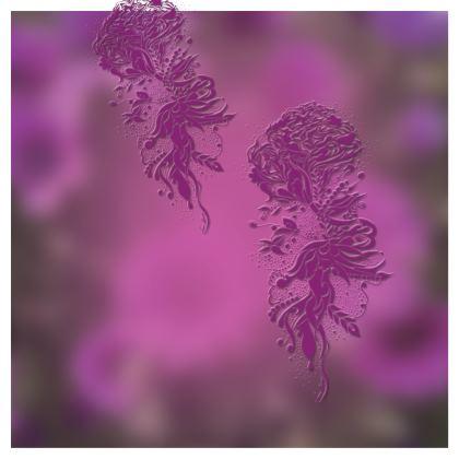 Skater dress - Skater klänning - Lila Ink Flower dream