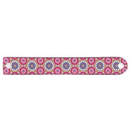 Neoprene Wristband Mandala Flowers