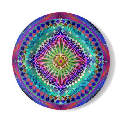 Decorative Plate Sun Mandala