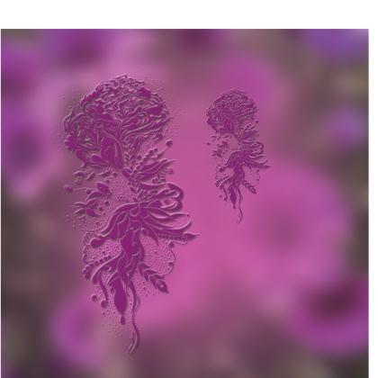 Kimono - Lila Ink Flower lila